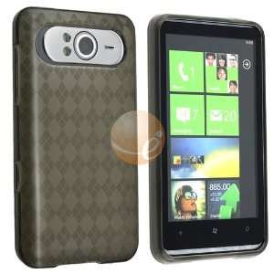 Rubber Skin Case for HTC HD7 / HD3, Clear Smoke Argyle Electronics