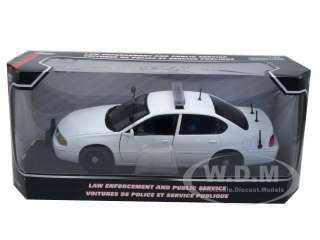 car model of 2002 Chevrolet Impala Blank White Unmarked Police Car by