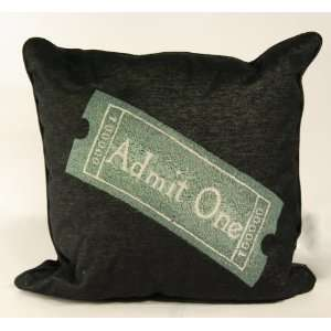 Deluxe Home Theater Black Ticket Pillow