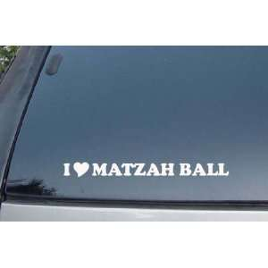 I Love Matzah Ball Vinyl Decal Stickers