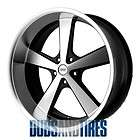 New 17 Inch American Racing NOVA Wheels Black Machine 5X4.75 ET0