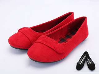 NEW CUTE JUNIOR BABY GIRL Buttoned Suede Ballet Flat Shoes Ultra