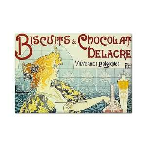 Biscuits and Chocolate Advertising Art Fridge Magnet