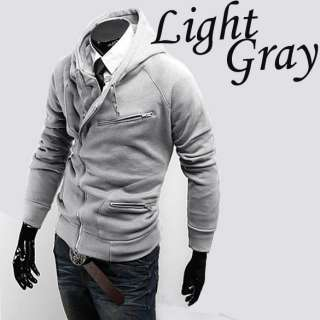 New Stylish Slim Fit Mens Jackets Hoodies Coats 4 Colors 4 Sizes