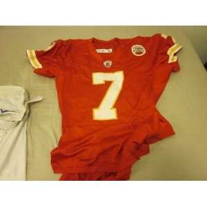 2010 Kansas City Chiefs Game Used Jersey Matt Cassel   NFL Jerseys