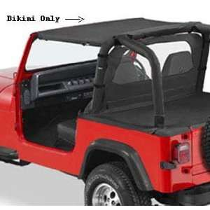 Pacific Brief Bikin Top for 1992 1995 Jeep Wrangler   Black