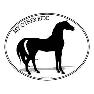 Oval Horse Decal  Bumper Sticker   Can be used for Cars, Trucks