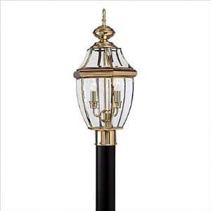 Bundle 22 Classic Two Light Outdoor Post Lantern in Polished Brass
