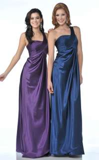 BRIDESMAIDS MILITARY MARINE BALL PROM DRESS SIMPLE WEDDING GOWN