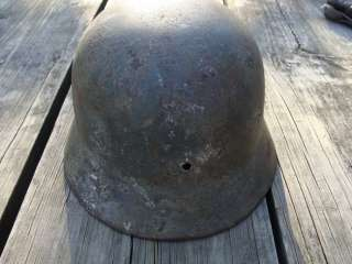 WWII DD German Army M35 Helmet no liner Battlefield pickup FREE