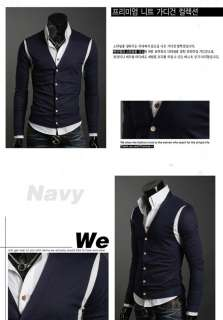 2011 New Mens Slim Fit Sweater Cardigan M L XL Y04