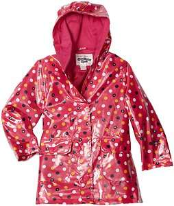 NWT OshKosh Infant/Toddler Girls Pretty Pink Polka Dot Print Rain