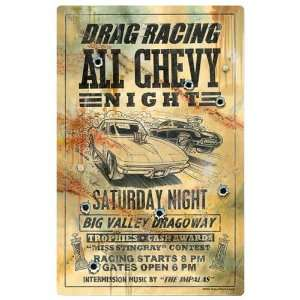 Drag Racing Metal Sign Vintage Reproduction Poster