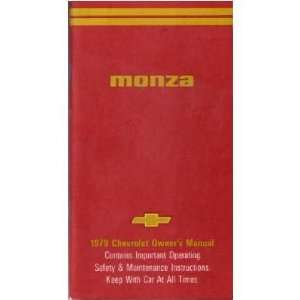 1979 CHEVROLET MONZA Owners Manual User Guide Automotive