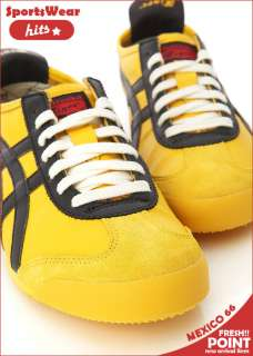 Asics Onitsuka Tiger Mexico 66 Yellow/Black Shoes #T48