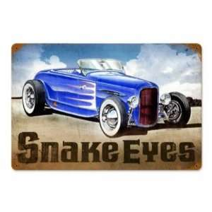 Snake Eyes Vintage Metal Sign Hot Rod Classic