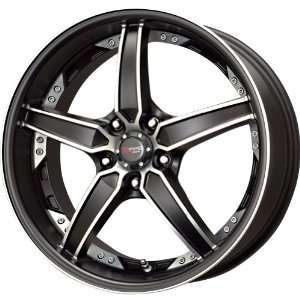 Drag DR 39 Matt Black Wheel with Machined Undercut (17x8