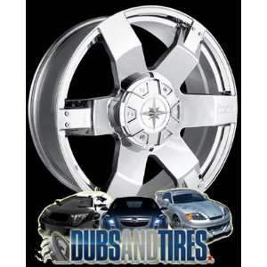 22 Inch 22x9.5 Ion Alloy wheels STYLE 185 Chrome wheels rims