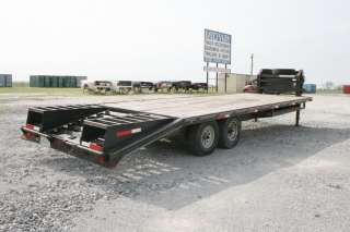 2005 27 Pro Trak Gooseneck Dovetail Flatbed Trailer w/8K Axles