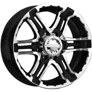 Gear Alloy Double Pump 16x8 Black Wheel / Rim 8x170 with a