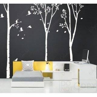 Made in US   Free Custom Color   on sale Three Big Birch Trees  Wall