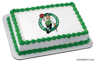 Boston Celtics Edible Image Icing Cake Topper