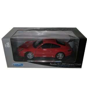 Carrera S 911 997 Coupe Red Diecast Car Model 118 Toys & Games