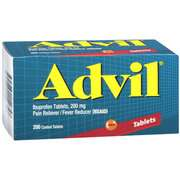 Advil Ibuprofen Pain Reliever / Fever Reducer, 200mg Tablets, 200ct