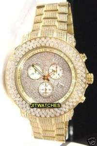 Joe Rodeo Junior 20.5 Ct Diamond Mens Watch Gold