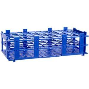 BrandTech 4340011 18mm 55 Tubes Blue Polypropylene Test Tube Rack, 5 x