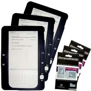 Case + 3 Packs Kindle2 Anti Scratch LCD Screen Protector Electronics