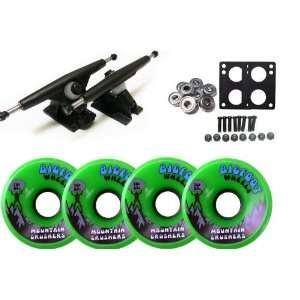 com Randal 180 Black LONGBOARD TRUCKS BIGFOOT 76mm 83a CRUSHER Wheels