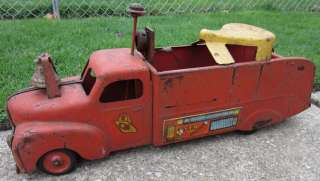 Vintage Marx Ride On VFD Fire Truck w/ Siren