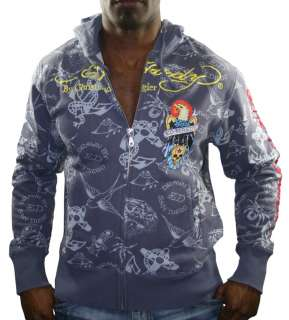 ED HARDY Christian Audigier Eagle Skull Tattoo Hooded Mens Hoodie