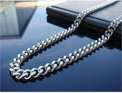 6mm MENS Stainless Steel Curb Chain Necklace 20   36