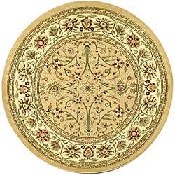 Lyndhurst Collection Majestic Beige/ Ivory Rug (53 Round)