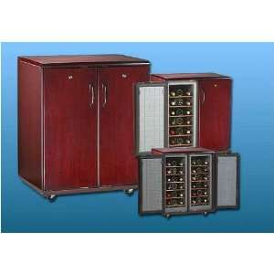 Avanti Credenza Wine Cellar   Cherry Wood Finish