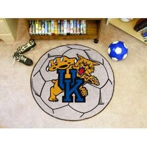 University of Kentucky Round Soccer Ball Rug Round 2.40
