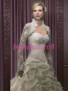 Free Jacket Ivory Wedding dress Bridal Gowns Custom
