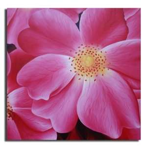 Pink Blooms Hand Painted Canvas Art Oil Painting