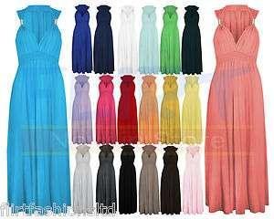 LADIES LONG STRETCH WOMENS MAXI DRESS COIL SPRING 1SIZE