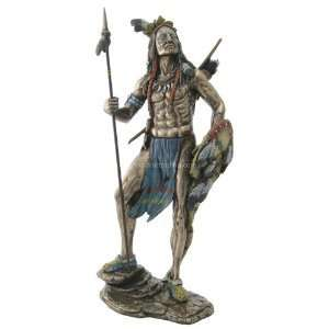 Native American Indian Sculpture   Sioux Indian Warrior