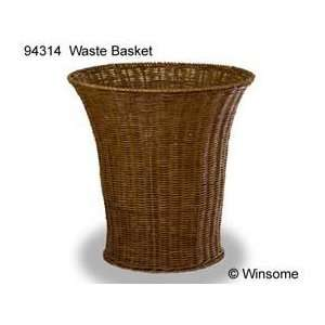 Walnut Finished Waste Basket by Winsome Wood 94314