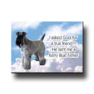 Kerry Blue Terrier True Friend Fridge Magnet Everything