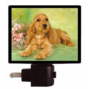Dog Night Light   Cocker Spaniel   LED NIGHT LIGHT