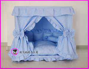 Blue/Pink Prince Pet Dog Cat handmade bed house S,M