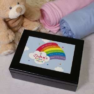 Rainbow Personalized Prayer Keepsake Box