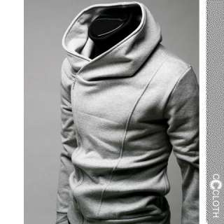 Grey NEW COOL Zip Men Mens Stylish Jacket Size S