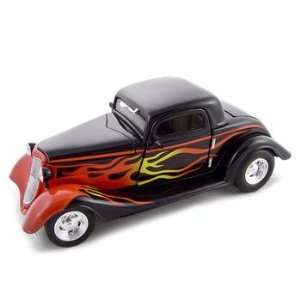 1934 Ford 3 Window Coupe HT Black 124 Diecast Model