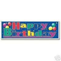Happy Birthday Sign Banner 63 x 21 Party Supply